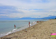 Olympic Beach, Greece, 2007 (cod_gabriel) Tags: greece beach olympicbeach grecia litoral seaside sand sandybeach sea