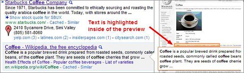 Coffee SERPs