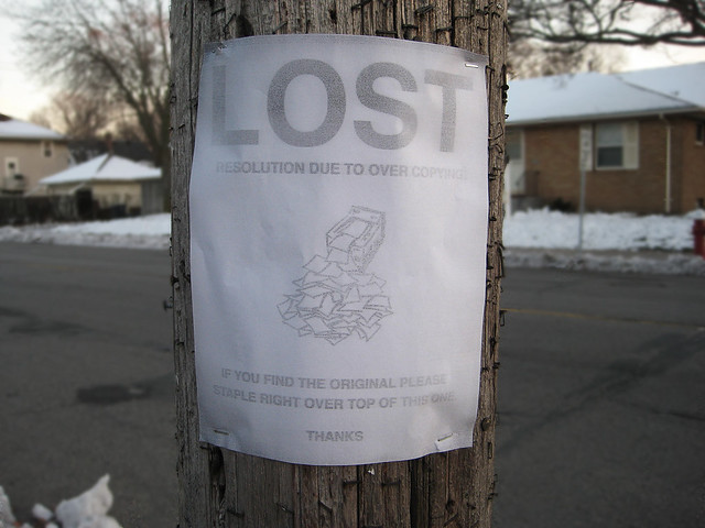 Lost Resolution Sign