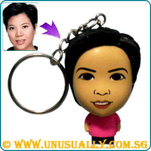Personalized Cartoon Feel Key Ring Pink Mini Doll