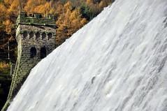 Tower (Keartona) Tags: autumn england tower water flow dam derwent reservoir full cascade ladybower fairholmes