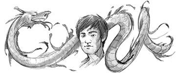 Google Bruce Lee Logo