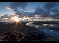 A river runs though, Crosby beach (Ianmoran1970) Tags: blue contrast landscape gold golden boots alt muddyboots ianmoran ianmoran1970