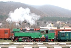 BDZ Polish-built (1949) narrow guage 2-10-2T steam locomotive 609 76 pauses at Varvara, Bulgaria, with a rail enthusiasts' special train, February, 2007 (Ivan S. Abrams) Tags: ivansabrams abramsandmcdanielinternationallawandeconomicdiplomacy ivansabramsarizonaattorney ivansabramsbauniversityofpittsburghjduniversityofpittsburghllmuniversityofarizonainternationallawyer