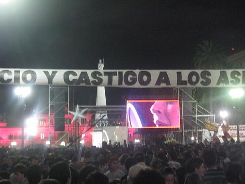 Concierto Por Mariano Ferreyra en Plaza de Mayo