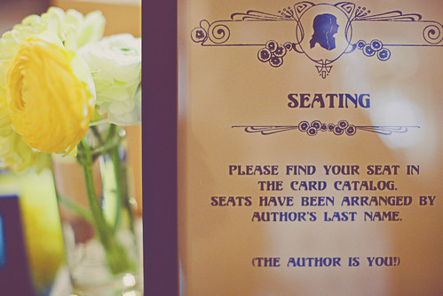 Instructions for the Library Card Catalog Escort Cards