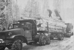 Logging Truck (Homini:)) Tags: ranch old white snow black cold truck work chains dangerous antique logs logging battle idaho photographs