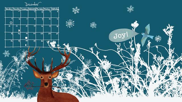 December wallpaper calendar