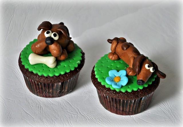 cupcake decorati Teneri cagnolini