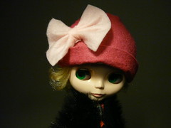 Pale Pink Bow on Pink Retro Hat