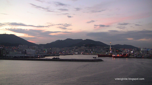 Pusan Busan Port Sunset Namhang bridge