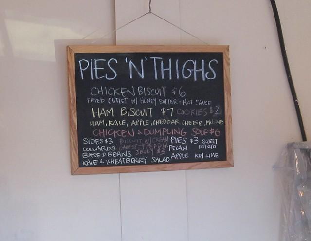 Pies n Thighs menu
