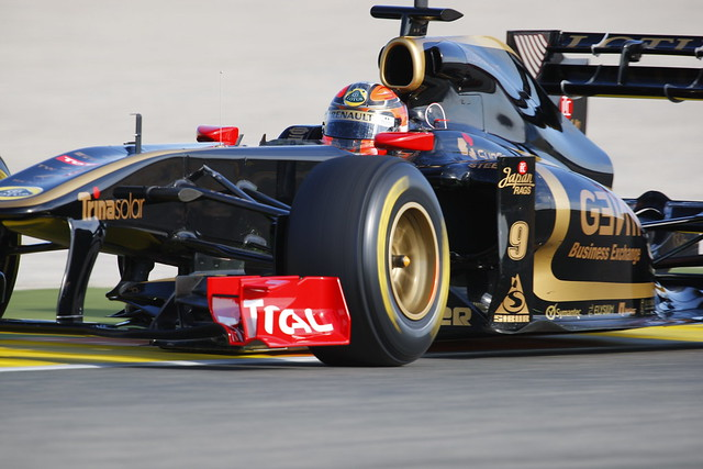 Kubica on track in the Renault