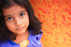 What a look! (Explored - Frontpage) (VinothChandar) Tags: portrait orange india color colour cute eye colors girl beautiful beauty look rural canon children photography photo kid eyes colorful soft village child artistic vibrant madras violet divine portraiture 5d colourful chennai tamil tamilnadu divinity markii cwc chengalpattu chengalpet