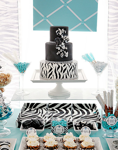 Tiffany Blue and Zebra Print wedding theme inspiration for all you bold