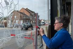 Chris_venstertekenen_DSC_0248 (Chris Perdieus) Tags: chrisper kruisstraat niels fietsenwinkel venstertekenen venstertekening