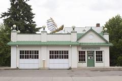 house, boat (Trevor Pritchard) Tags: saskatoon saskatchewan june 2017 riversdale littlechief gas station service publicart architecture prairies canada