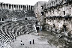 The well preserved Roman amphitheatre of Aspendos in Antalya (lluunnoo) Tags: turkey aspendos antalya amphitheatre roman