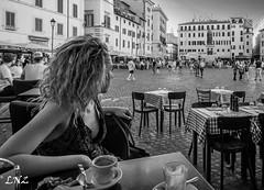 Not ready to go (prefectusmaximus) Tags: rome roma italy italia beauty beautiful monochrome blackandwhite portrait girl woman female blond tourist traveler campodefiori nostalgia longing photoshoot travel voyage worldportrait cyprus cypriot photographer
