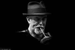 Dark Blue (Neil. Moralee) Tags: neilmoralee usa2017neilmoralee man hat trumpet player dark mature old beard moustache live jaz jazz blues music homberg trilby black white bandw blackandwhite mono monochrome mood moody sad melody melodic neil moralee nikon d7200 new orleans usa louisiana horn lip blow frenchman street candid bourbon faubourg marigny portrait face band group