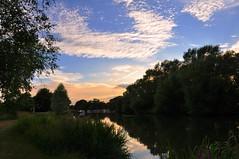 Sunset in Abingdon on the Thames (Ian Campsall) Tags: uk sunset church thames river nikon southeast oxfordshire abingdon canalboat d90 nikond90 httpiancampsallsmugmugcom