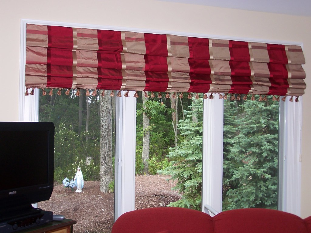 Pleated roman shades