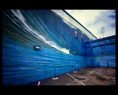 [213/365] The Wall (Michael  Hunter) Tags: ocean blue moon ted up wall canon project lens bay michael pain community surfer half l hunter 365 1740mm surfs f40 5dmkii michaeljhunter michaeljhuntercom