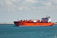 Bow Star (Set) (BraCom (Bram)) Tags: orange clouds industrial sailing ship vessel cargo tanker maasmond bowstar odfjelltankers bracom bramvanbroekhoven