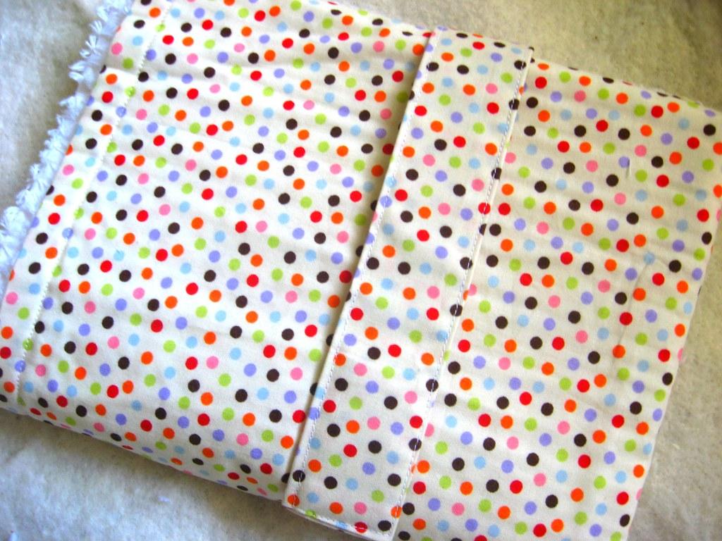 Baby Blanket  Changing Mat, Polka Dot