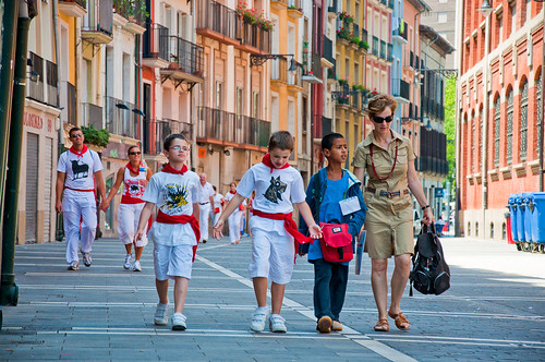 La corrida de toros en Pamplona