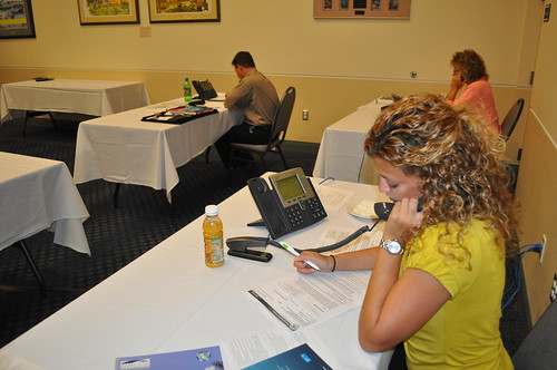 Combined Sales Teams of Charlotte County, Fla., Making Phone Calls