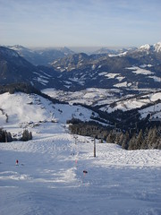 View from the top. (stevenhoneyman) Tags: foothills mountain snow ski alps forest austria europe skiing alpine kaiser osterreich alp tyrol wilder salve hohe welt kufstein soll tyrolean skiwelt solllandl