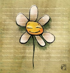 Margheritina (Pecorella_Bertina) Tags: flower digital photoshop sketch digitale illustrator fiore paola margherita zanetti illustrazione illustratrice