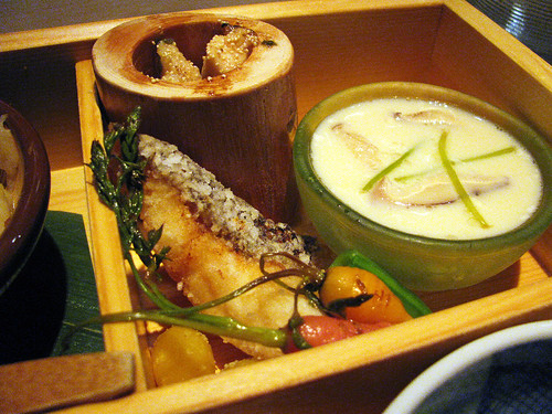 scorpionfish, aji & shiitake custard