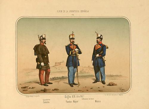 018- Álbum de la Infantería Española..-1861- conde de Clonard