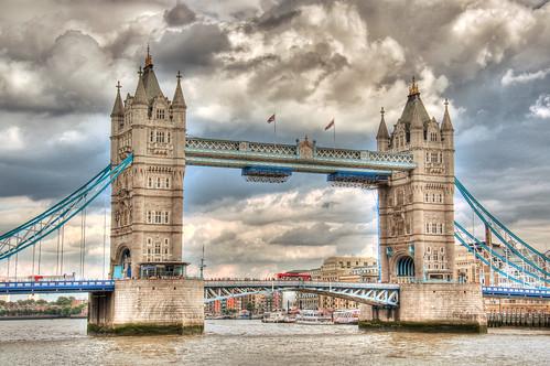 フリー写真素材, 建築・建造物, 橋, タワーブリッジ, イギリス, ロンドン, HDR,