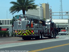 Orlando Fire Department - Tower 9 (FormerWMDriver) Tags: rescue tower truck fire orlando engine 9 vehicle ladder emergency department ofd