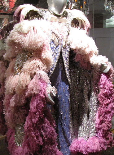 Violet Costume with Ostrich Feathers