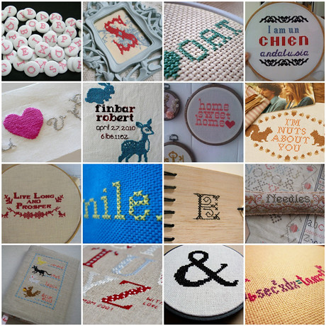 Woolgathering: Cross stitch lettering