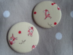 Mini Fawn Deer (Lilies and Daisies) Tags: magnets badges compactmirrors