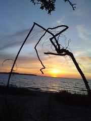one leg to the sun (h.hirsekorn) Tags: sun setting summerevenings