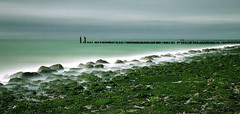 Groynes-III (DolliaSH) Tags: longexposure sea seascape holland color beach water colors architecture strand canon photography mar photo topf50 europe foto photos nederland thenetherlands noordzee playa zeeland zee filter le nd topf100 plage spiaggia westkapelle groynes ranta 1755 canonefs1755mmf28isusm nd110 canoneos50d noordsee dollia dollias sheombar plyazh dolliash bw10stopsolidndfilter