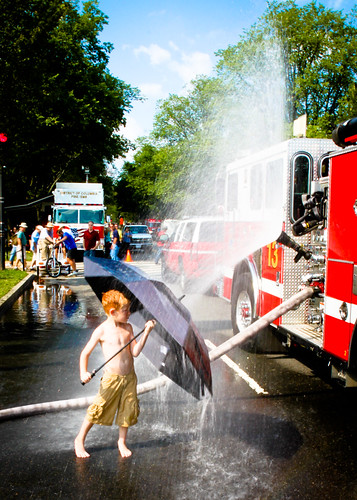 Umbrella vs. fire truck
