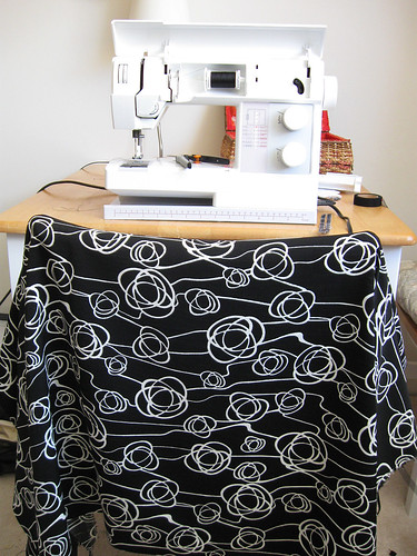 black white fabric for Carol