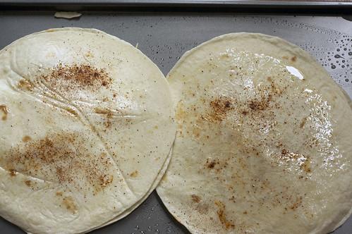 quesadillas on pan