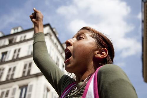 Manifestation en soutien aux Roms et contre la xénophobie