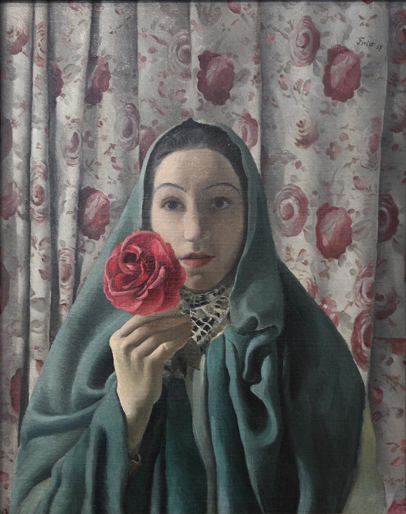 Greta Freist, La Femme aux Roses [Lady with Roses], 1937