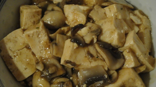 Sauteed Tofu with mushrooms 蘑菇豆腐