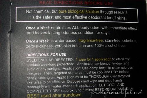 Weekly Deodorant Instructions