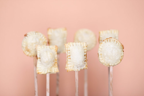 Peach pie on a stick